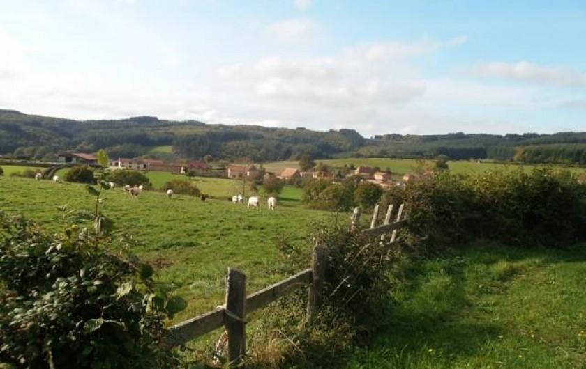 Location de vacances - Roulotte à Matour - Le hameau de Croux