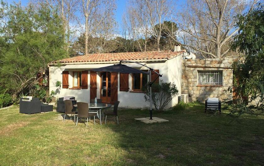 Location de vacances - Villa à Calvi - Vue extérieur maison du Sun