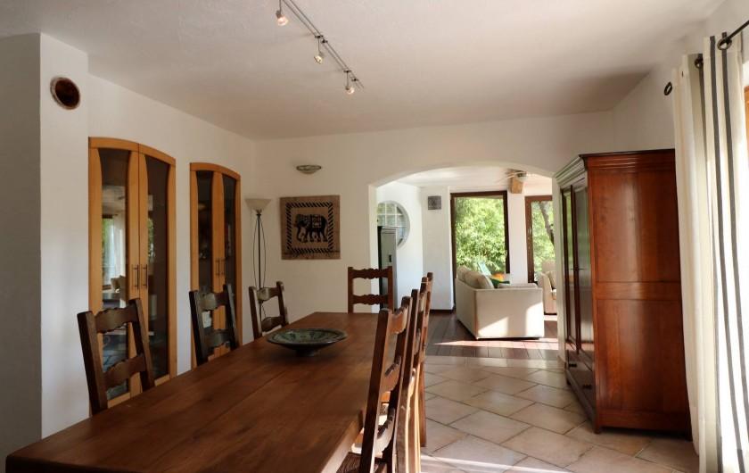 Location de vacances - Villa à Seillans - La salle à manger intérieure