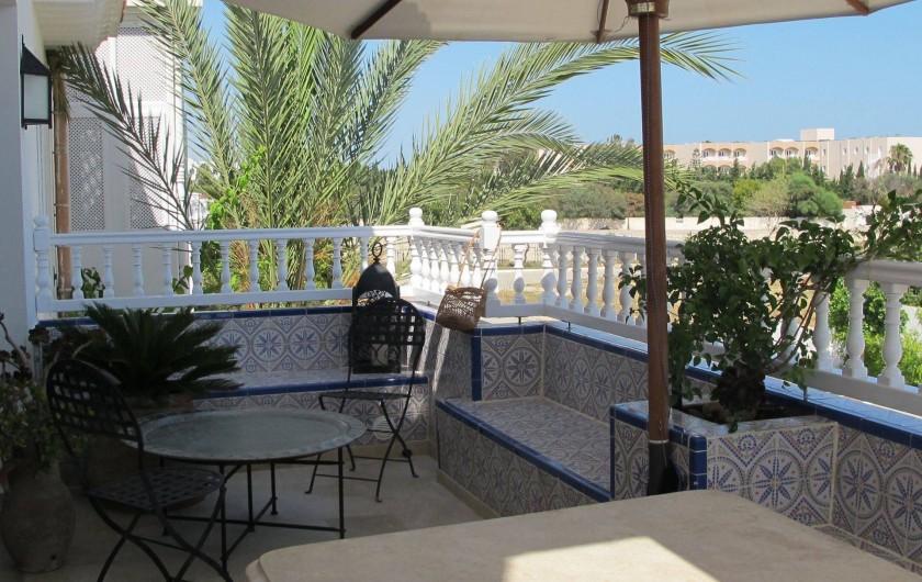 Location de vacances - Appartement à Hammamet - terrasse