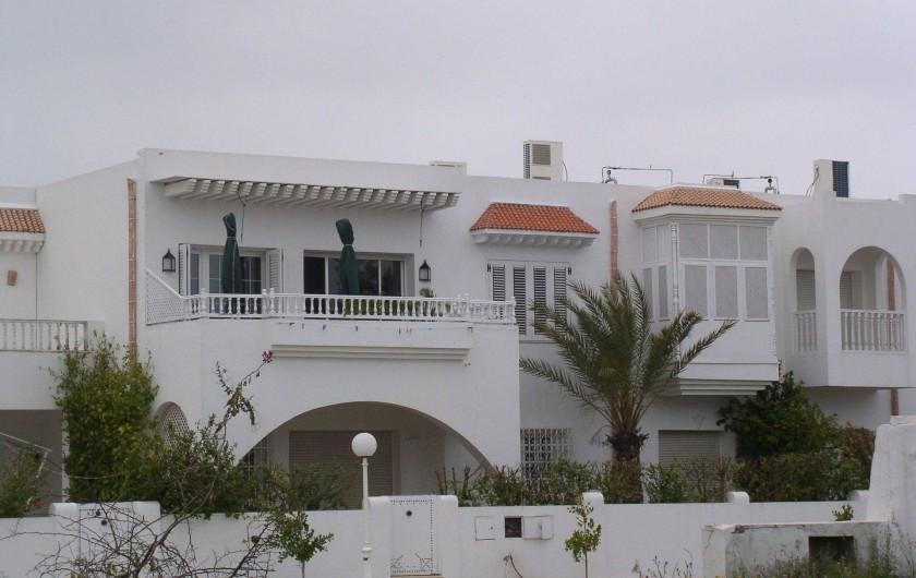Location de vacances - Appartement à Hammamet - terrasse côté mer