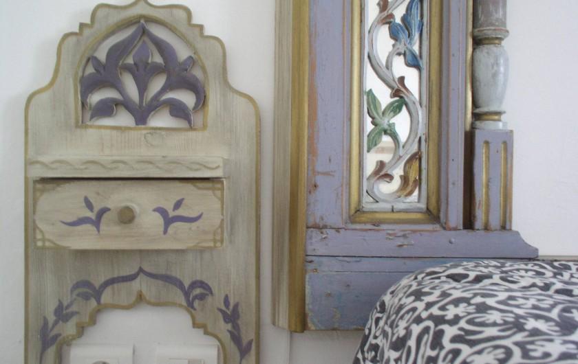 Location de vacances - Appartement à Hammamet - détail de la chambre à coucher-lit double