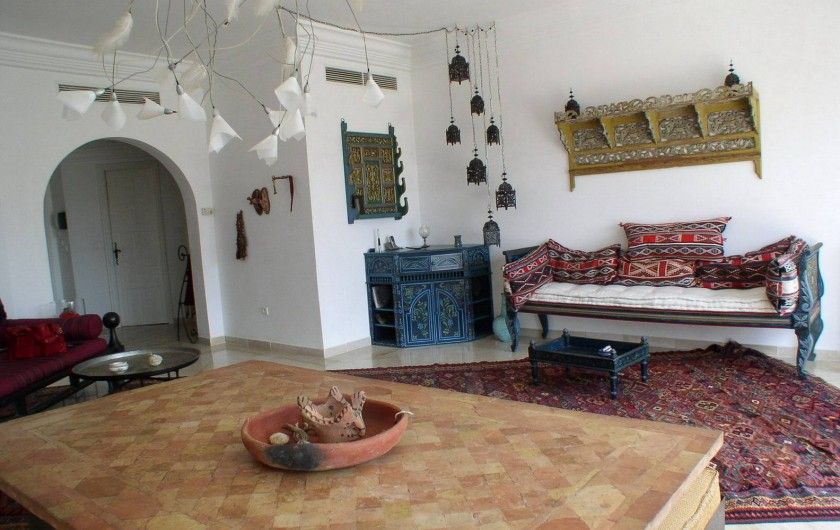 Location de vacances - Appartement à Hammamet - salon