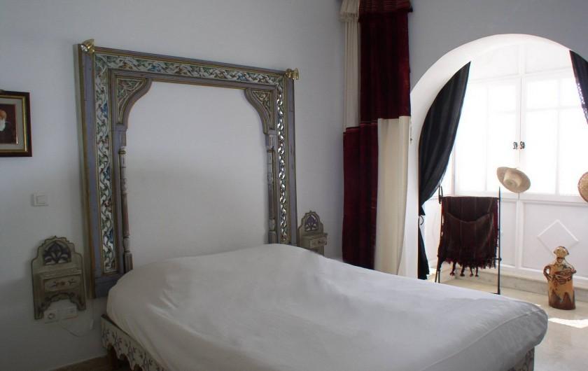 Location de vacances - Appartement à Hammamet - chambre à coucher lit double