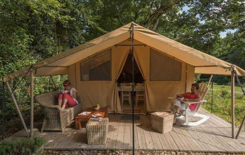 Location de vacances - Camping à Rochefort-en-Terre - Tente Cotton Lodge 4 pers