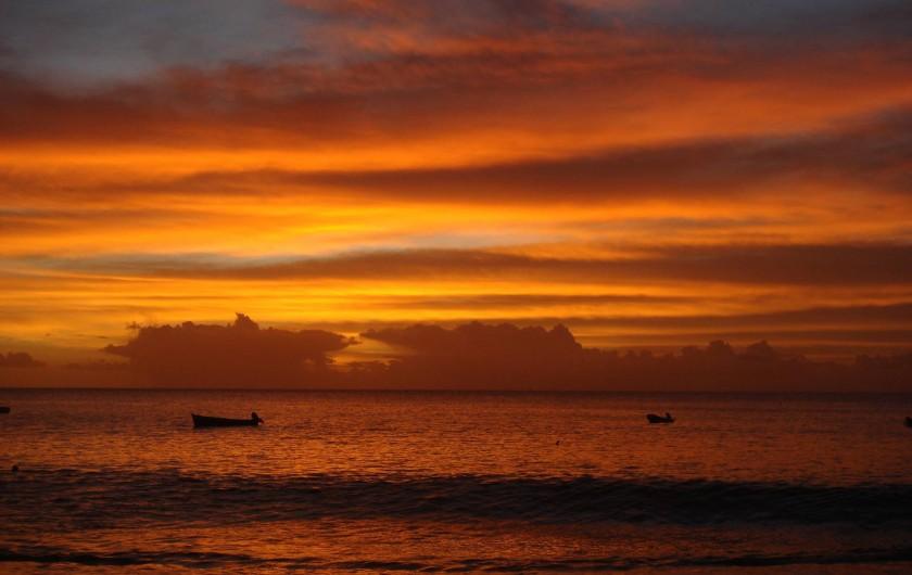 Location de vacances - Bungalow - Mobilhome à Le Carbet - Coucher de soleil