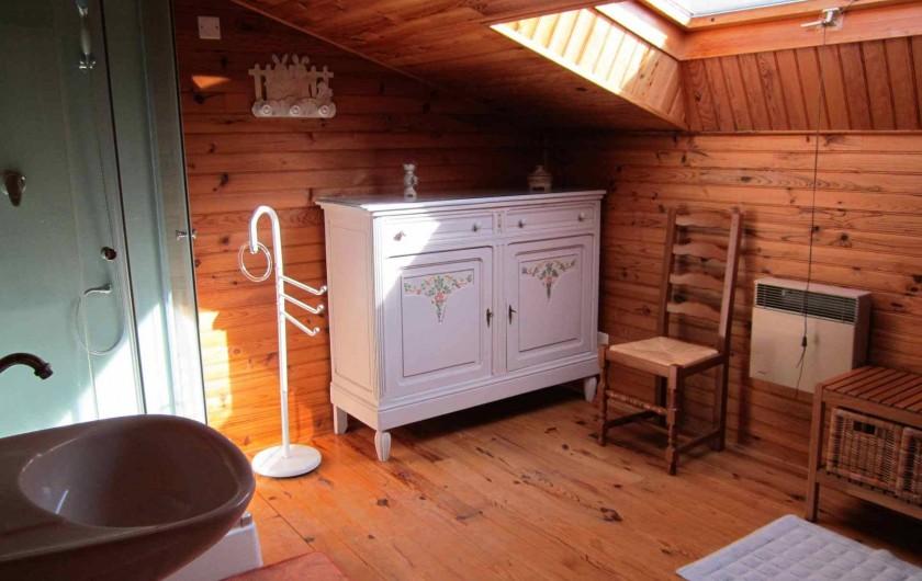 Location de vacances - Gîte à Valprionde - La salle d'eau côté mezzanine
