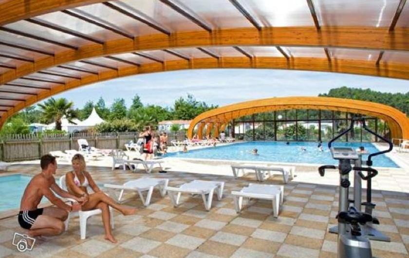 Location de vacances - Chalet à Lit-et-Mixe - piscine chauffée couverte