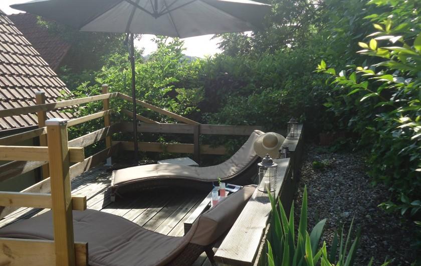 Location de vacances - Maison - Villa à Neuville-lès-Dieppe - La terrasse solarium 1