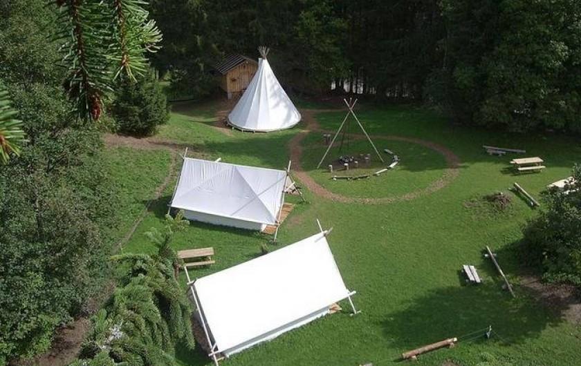 Location de vacances - Tipi à Mont-Saxonnex - Un camp à taille humaine pour un atmosphère vraiment insolite