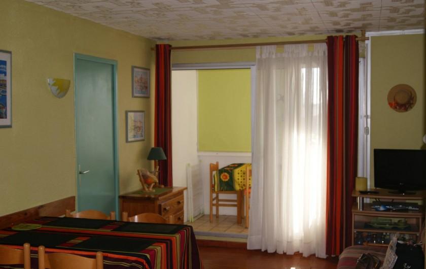 Location de vacances - Appartement à Le Barcarès - vue pièce principale 2