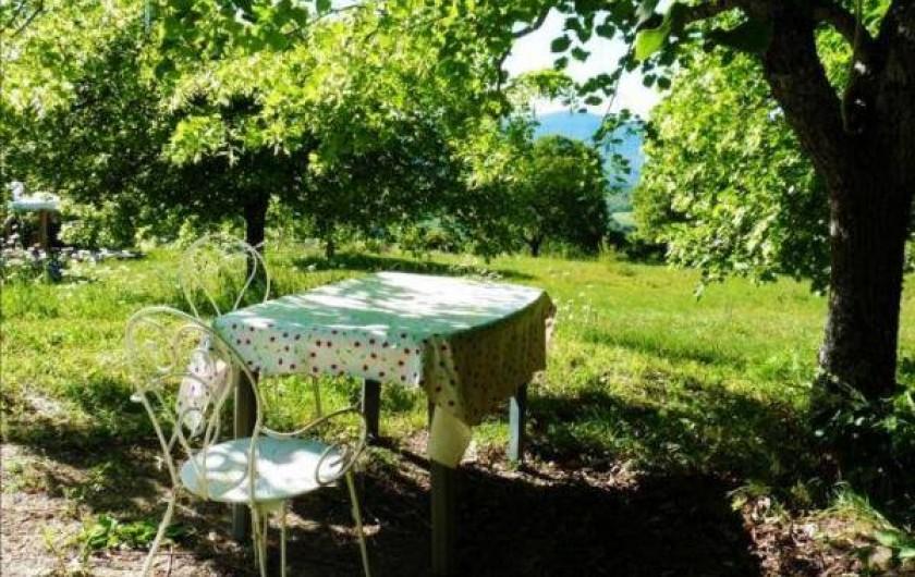 Location de vacances - Camping à Éourres - La Bunga-Yourte, jardin.