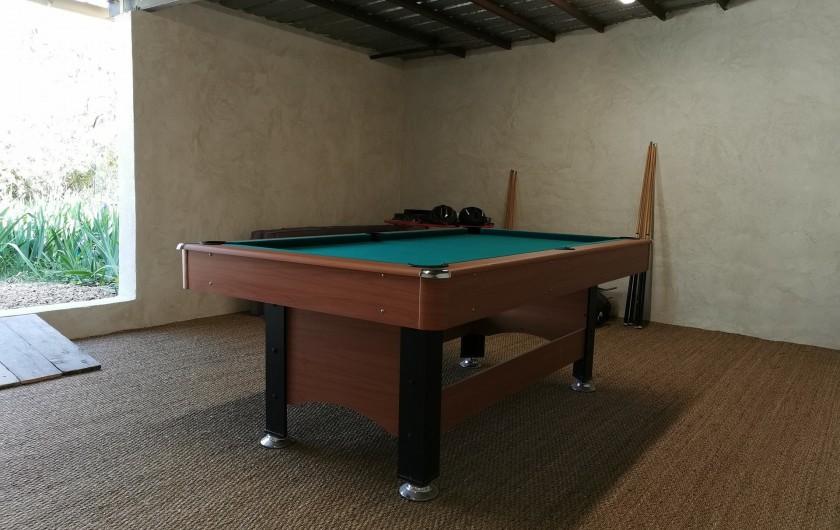 Location de vacances - Villa à Bezouce - Salle de jeux (billard américain, fléchettes et quilles nordiques)
