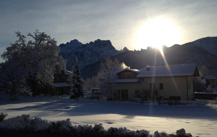 Location de vacances - Appartement à Pozzale - ma maison en hiver