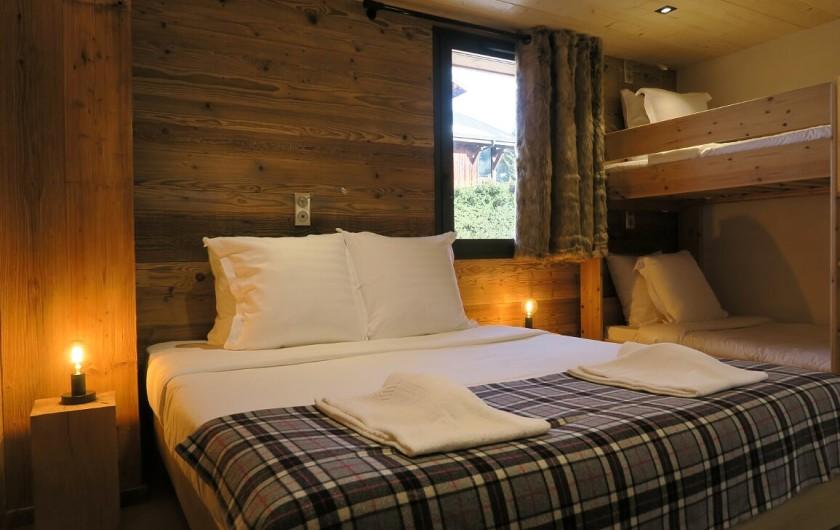 Location de vacances - Appartement à Les Gets - Chambre 3  Lit double ou 2 lits simple avec lits superposés