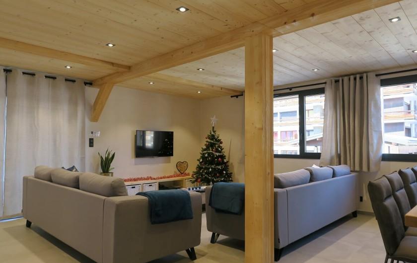 Location de vacances - Appartement à Les Gets - Espace Salon - coin TV