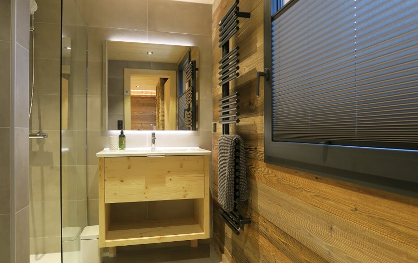 Location de vacances - Appartement à Les Gets - Salle de douche - Chambre 1