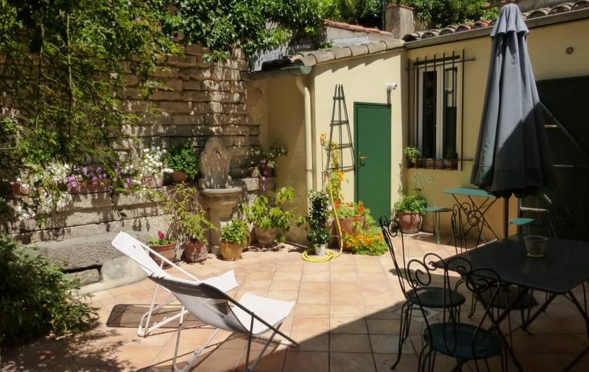 Location de vacances - Chambre d'hôtes à Montpellier - La cour