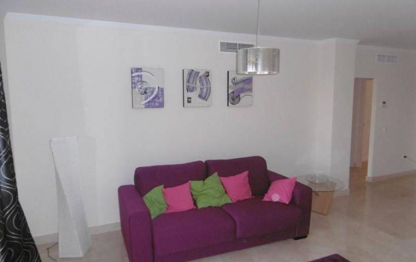 Location de vacances - Appartement à Marina de Casares - Le fauteuil est convertible en un lit de deux personnes.