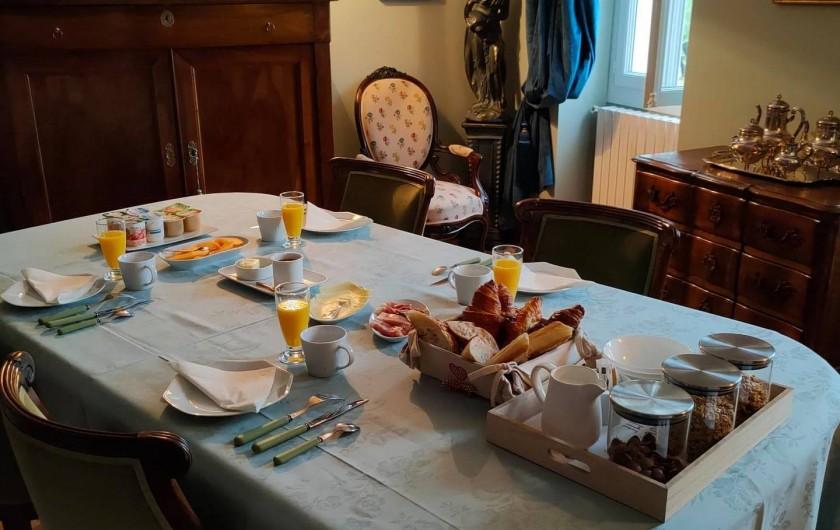 Location de vacances - Gîte à Bourg sur Gironde - Petit-déjeuner anglais servi à la Villa