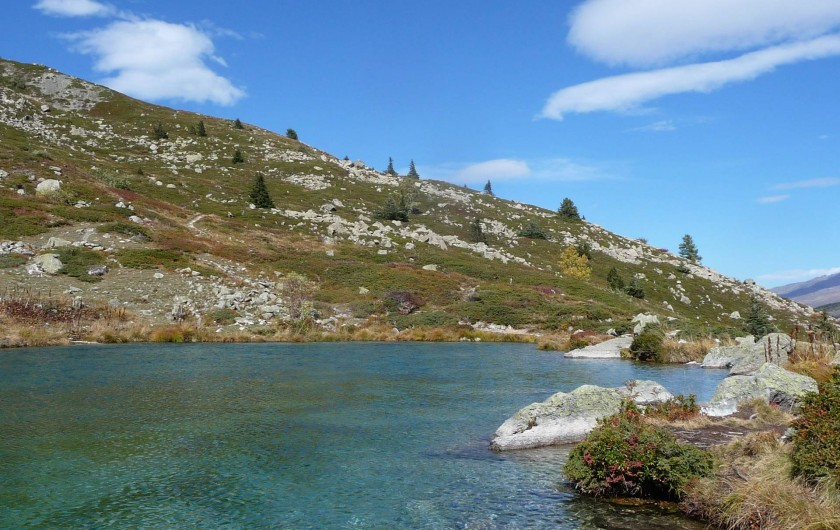 Location de vacances - Gîte à Valmeinier - Le lac vert : 1h15 aller avec des enfants.