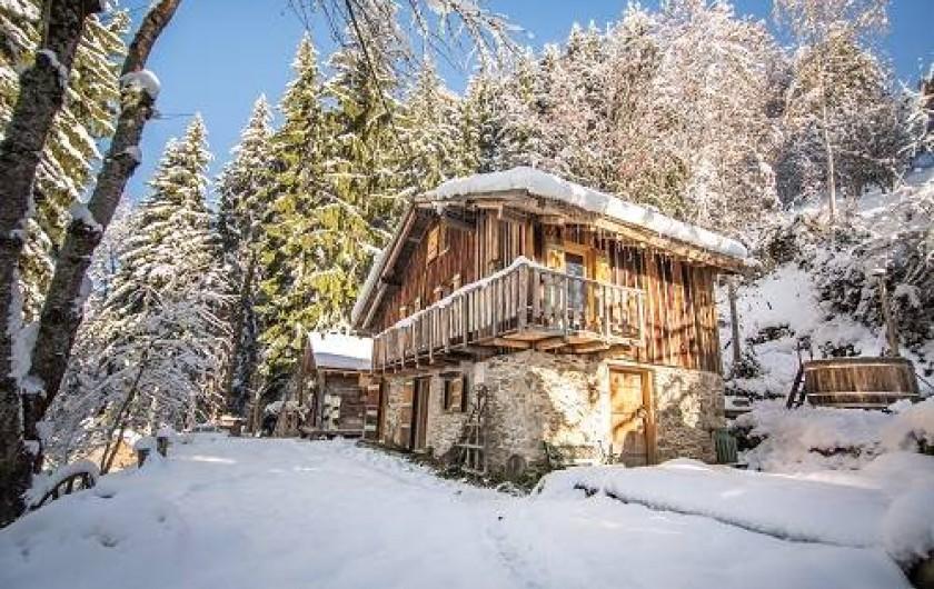 Location de vacances - Chalet à Saint-Gervais-les-Bains - Perdue dans la lisiere de la foret