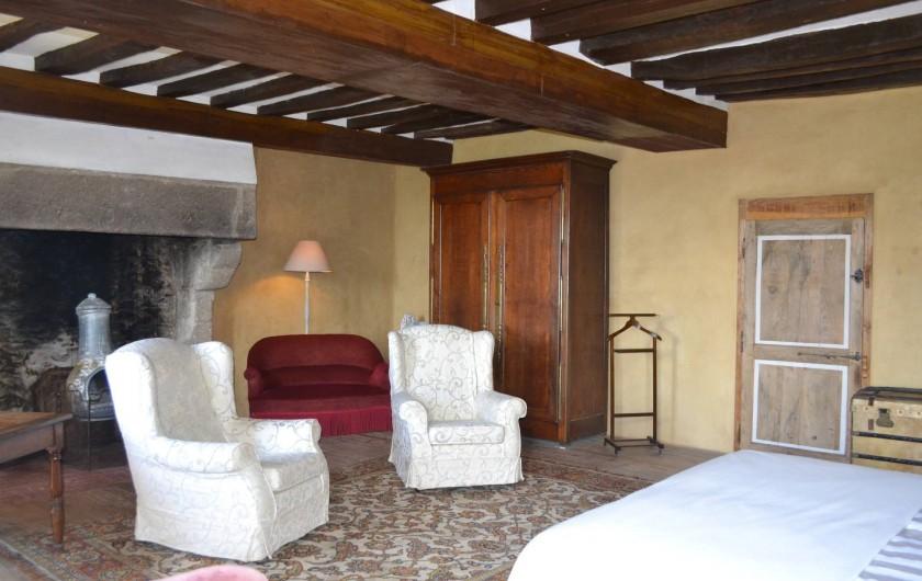 Location de vacances - Gîte à La Baconnière - Chambre parentale 1er étage (2 lits 90x200)