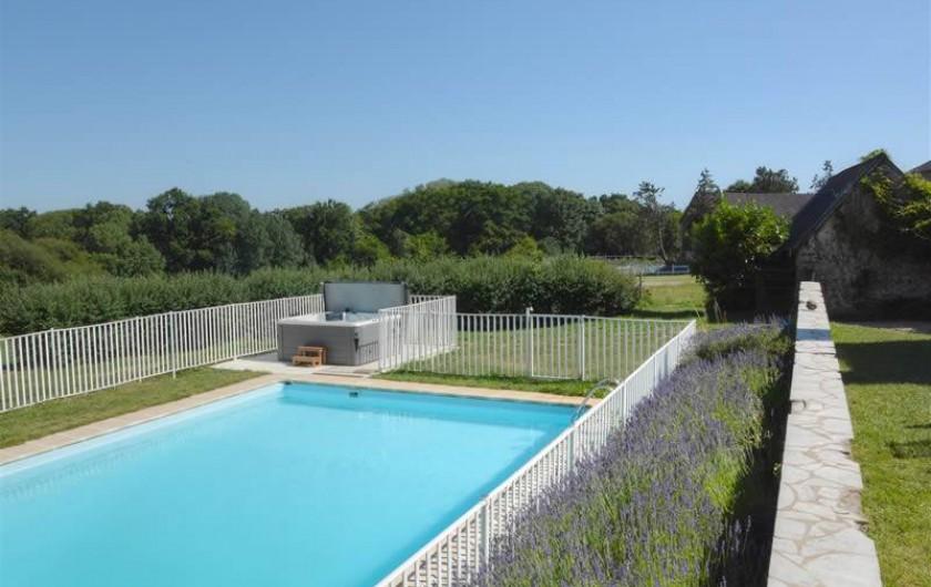 Location de vacances - Gîte à La Baconnière - Piscine et jacuzzi privés au gîte de la grande Poupardière