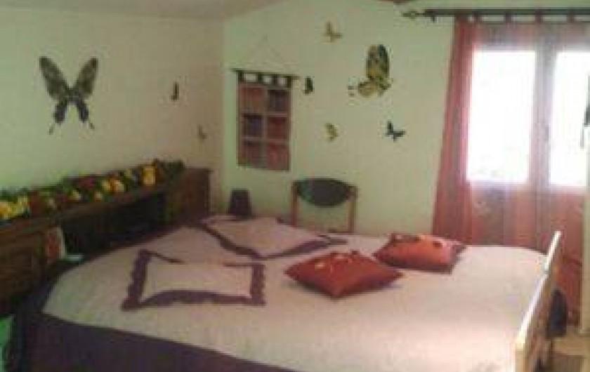 Location de vacances - Villa à Thueyts - chambre parentale  couchage 160x190 vues Sud et Nord