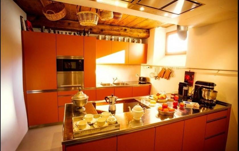 Location de vacances - Chalet à La Punt-Chamues-ch - Cuisine a plaques électriques