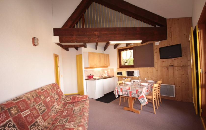 Location de vacances - Chalet à Les Saisies - Appartement  Outray  4 pers balcon sud ouest.