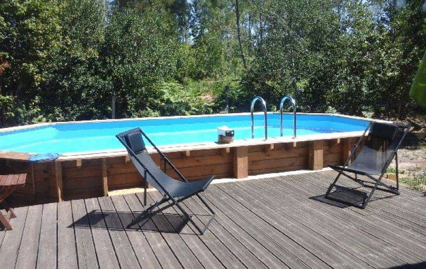 maison en bois piscine 7 personnes zone calme sur bassin d 39 arcachon biganos. Black Bedroom Furniture Sets. Home Design Ideas