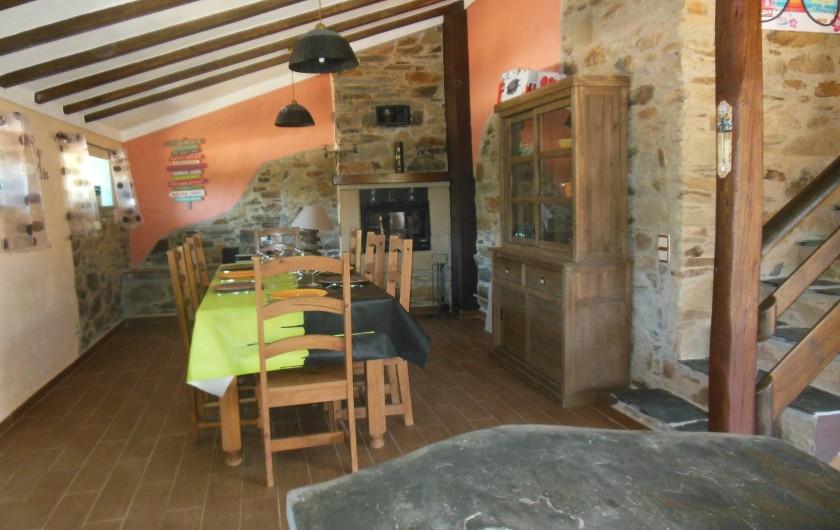 Location de vacances - Villa à Alvito da Beira - salle à manger