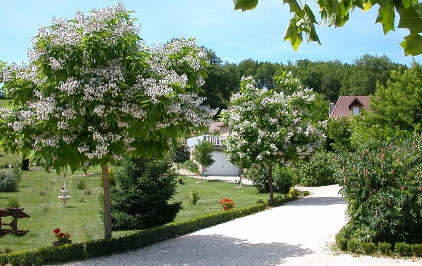 Location de vacances - Gîte à Martel - Parc fleuri et arboré