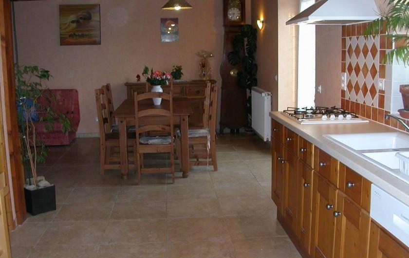 Location de vacances - Gîte à Martel - Cuisine et coin repas (Grange 2)
