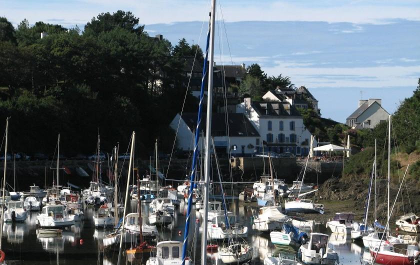Location de vacances - Appartement à Clohars-Carnoët - le batiment... marée basse
