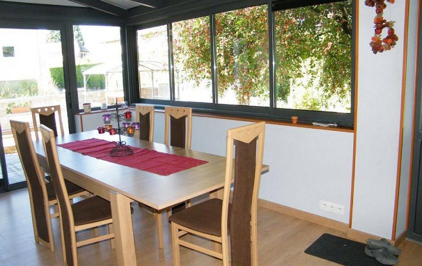 Location de vacances - Gîte à Kertzfeld - Véranda climatisée
