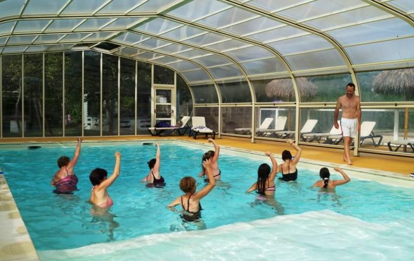 Location de vacances - Bungalow - Mobilhome à Saint-Benoît-des-Ondes - Aquagym en juillet-août