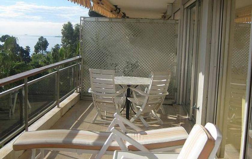 Location de vacances - Appartement à Vallauris - terrasse