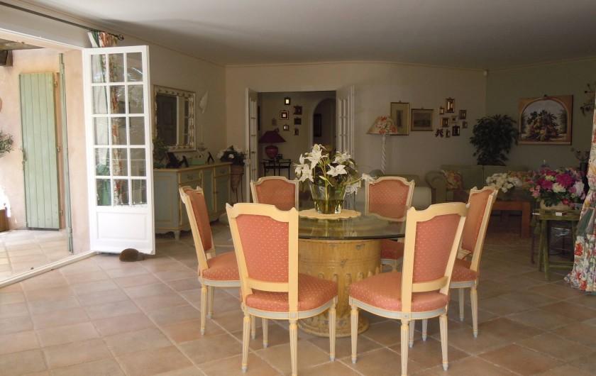 Location de vacances - Villa à Théoule-sur-Mer - coin repas