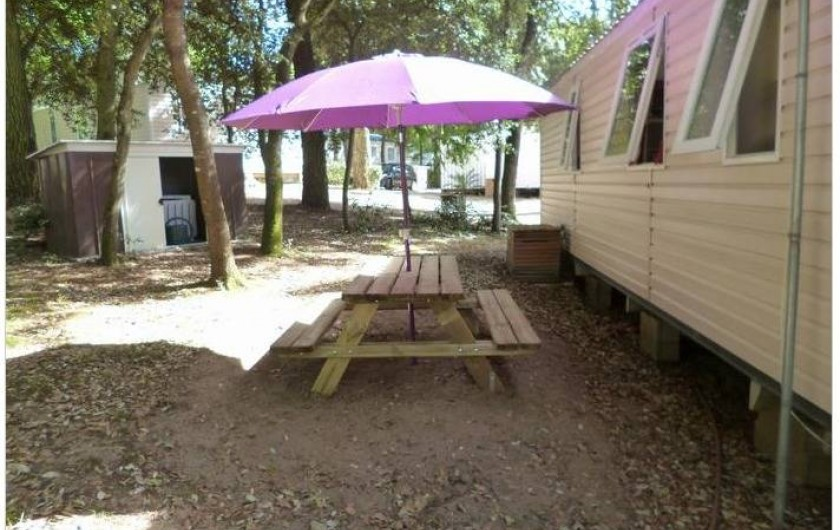 Location de vacances - Bungalow - Mobilhome à Saint-Brevin-les-Pins - Terrain arrière privatif