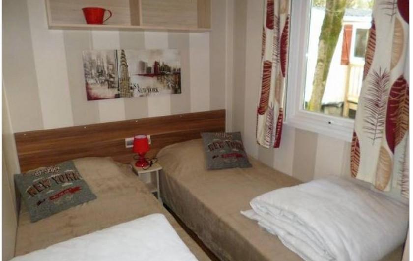 Location de vacances - Bungalow - Mobilhome à Saint-Brevin-les-Pins - Chambre 3 2 lits rapprochables
