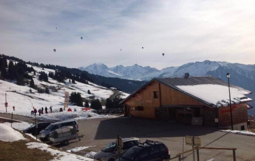 Location de vacances - Appartement à Villard-sur-Doron - Jeux aériens ( au mois de mars)