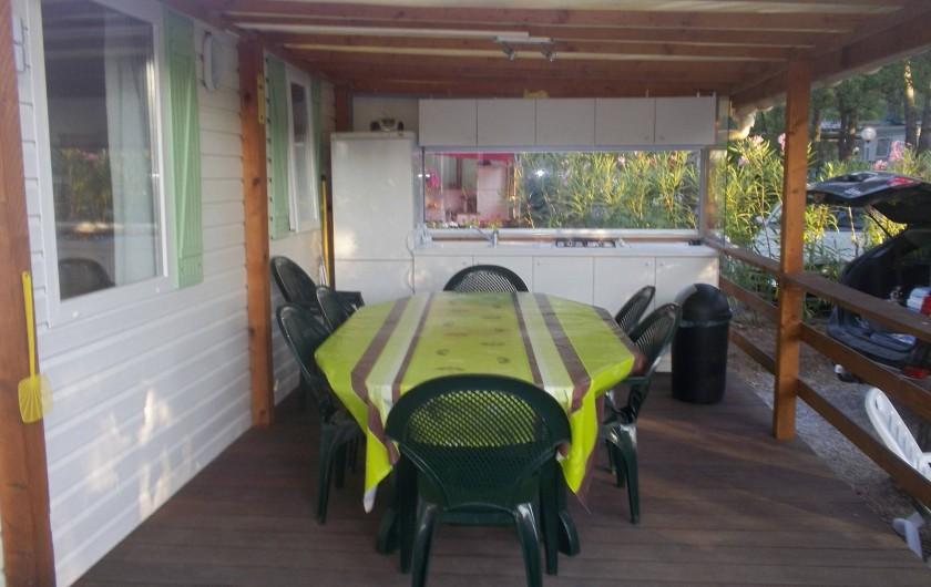 Location de vacances - Bungalow - Mobilhome à Roquebrune-sur-Argens - cuisine extérieur