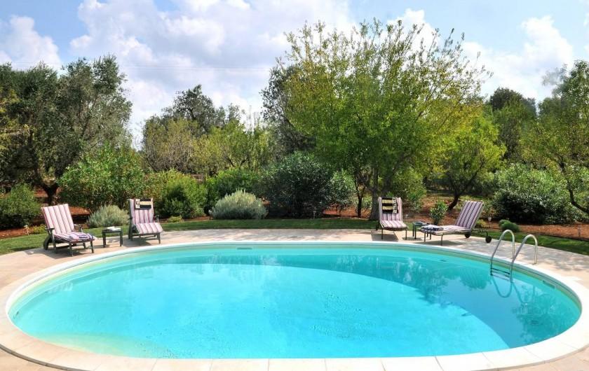 Location de vacances - Villa à Ceglie Messapica - Piscine et jardin privé