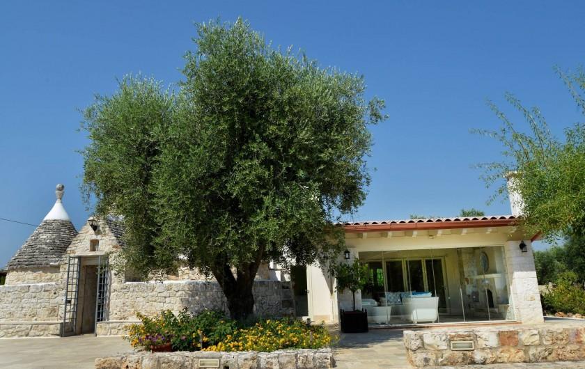 Location de vacances - Villa à Ceglie Messapica - Trulli stella avec extension terrasse