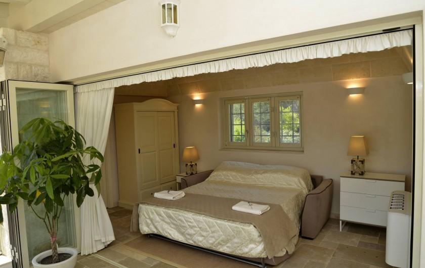 Location de vacances - Villa à Ceglie Messapica - Chambre 3 ou salon privé donnant sur terrasse et pisc