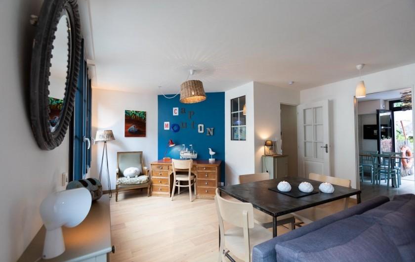 Location de vacances - Appartement à Binic - Pièce à vivre - Hébergement classé 4 étoiles en bord de mer en bretagne