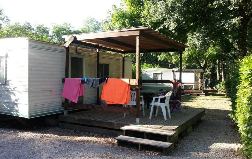 Location de vacances - Camping à Girac - Mobilhome Bambi