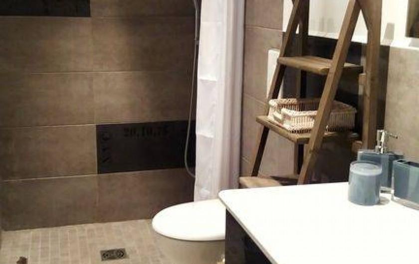 Location de vacances - Maison - Villa à Cheval-Blanc - salle de douche à l'italienne et  WC suspendu